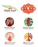 Date Palm Fruit logo vector set design Royalty Free Stock Image