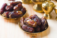 Date palm ramadan food also known as kurma. Consumed before fast Royalty Free Stock Photos