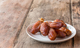 Date Palm. On the wooden floor Royalty Free Stock Images