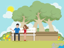 Date at park Royalty Free Stock Images