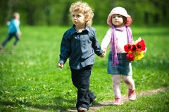 Date in park Royalty Free Stock Photo