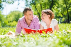 Date in park Stock Image