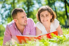 Date in park Stock Photography