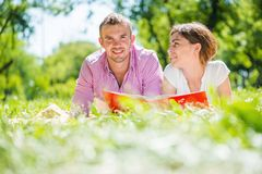 Date in park Royalty Free Stock Images