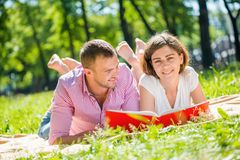 Date in park Royalty Free Stock Photos