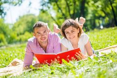 Date in park Royalty Free Stock Image