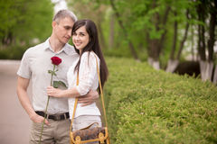 Date in park Stock Photo