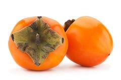 Date-plum fruit on white Stock Photo