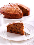 Date and raisin cake slice Stock Photo