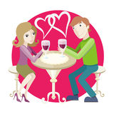 Date at restaurant Royalty Free Stock Images