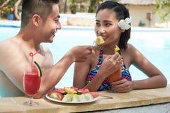 Date romantique à la station de vacances luxueuse Photos libres de droits