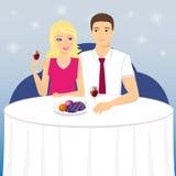 Date romantique illustration libre de droits