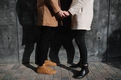 Date romantique d'amour de couples heureuse ensemble Photographie stock