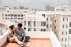 Date on the roof Stock Image