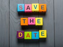 Date. Save business the invite greeting display Royalty Free Stock Photo