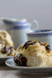 Date Scones with Tea Stock Image
