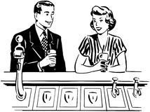 A Date At The Soda Fountain Royalty Free Stock Photo