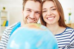 Date sorridenti Fotografie Stock Libere da Diritti