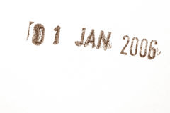 Date stamp. On white ground Stock Photography