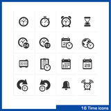 Date and time icons set. royalty free illustration