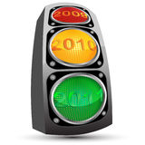 Date and traffic light Royalty Free Stock Photos