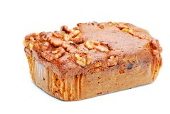 Date and walnut cake Stock Images