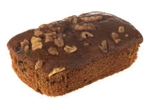 Date and Walnut Loaf Cake Stock Photos