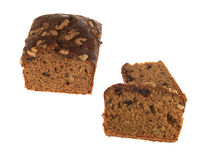 Date and Walnut Loaf Cake stock photography