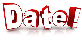Date Royalty Free Stock Image