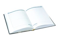 Datebook. Under the white background Royalty Free Stock Images