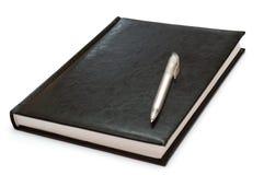 Datebook e penna Fotografia Stock Libera da Diritti