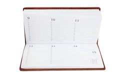Datebook. Isolated under the white background Royalty Free Stock Photos