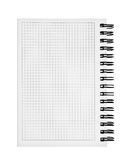 Datebook. Isolated on the white background Royalty Free Stock Photos