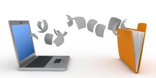 Dateiübertragung Lizenzfreies Stockfoto