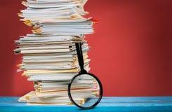 Datei-Dokumente Stockbild