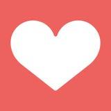 Datei ENV-8 eingeschlossen Weißes Symbol der Liebe auf rotem Hintergrund Lizenzfreie Stockfotos