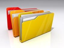 Datei-Faltblätter Stockbilder