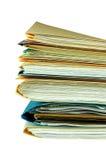 Datei-Faltblätter Stockfotografie