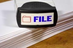 Datei-Stempel lizenzfreie stockfotografie