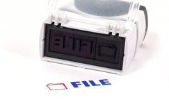Datei-Stempel Stockbilder