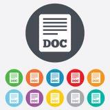 Dateidokumentenikone. Knopf des Downloads Doc. Lizenzfreie Stockfotos