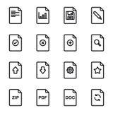 Dateidokumentenikonensatz Lizenzfreies Stockbild