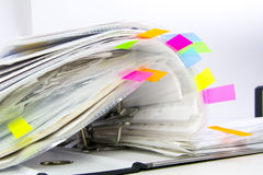 Dateien in den Bürofaltblättern Lizenzfreie Stockfotografie