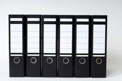 Dateien in einer Reihe Stockfotos