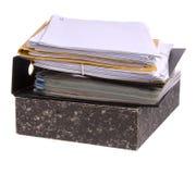 Dateien und Papiere Stockfotografie
