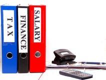 Dateien, Wirtschaft, Dokumente, Bankwesen, Geld und Sparplan Lizenzfreie Stockbilder