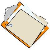 Dateifaltblatt auf Klemmbrett Lizenzfreie Stockfotos