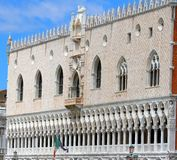 Dateil of  palace in front of Riva degli Schiavoni in Venice in italy Royalty Free Stock Images