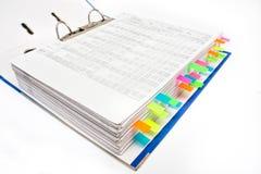 Dateiordner mit Aufkleber Stockfotografie