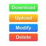 Dateiserverknöpfe Lizenzfreie Stockfotografie